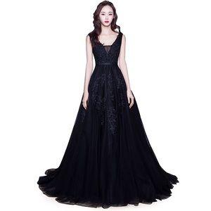 Dresses & Skirts - Long Prom Sequin Tulle Appliqué Bridesmaid Dress